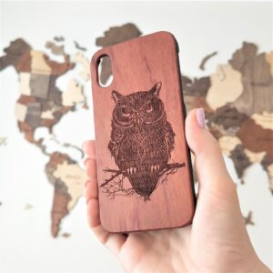 enjoythewoodestonia puidust ümbris iPhonile owl