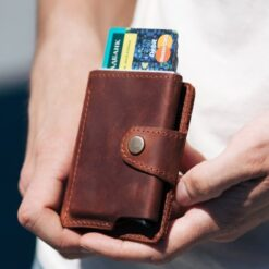 enjoythewoodestonia leather rfid wallet minimalist