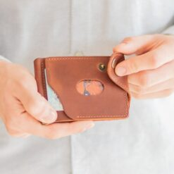 enjoythewoodestonia leather wallet money clip