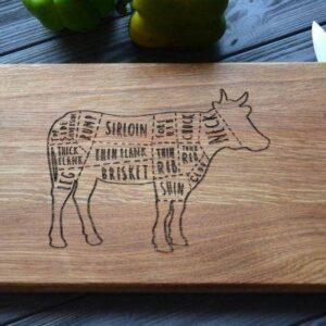 enjoythewoodestonia puidust lõikelaud cow
