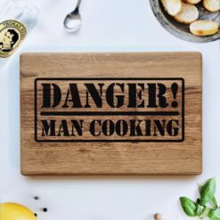 enjoythewoodestonia wooden cutting board Danger!Man cooking