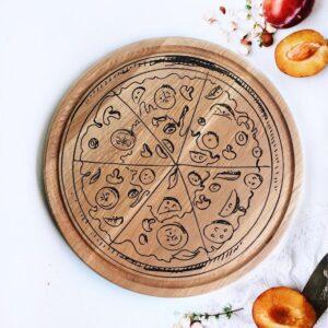 enjoythewoodestonia ümmargune puidust lõikelaud pizza