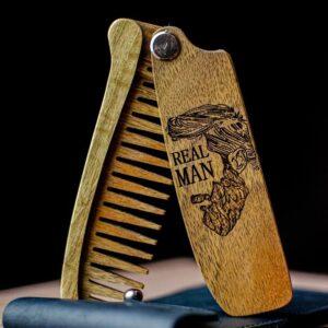 enjoythewoodestonia puidust kokkupandav habemekamm real man