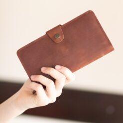 enjoythewoodestonia leather wallet for women with a zipper