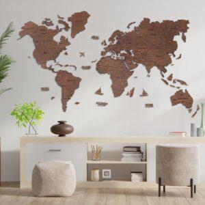 enjoythewoodestonia puidust maailma seinakaart tamm