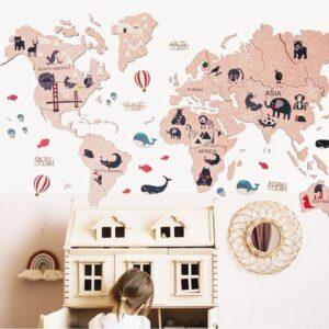 enjoythewoodestonia laste seinakaart korgist roosa