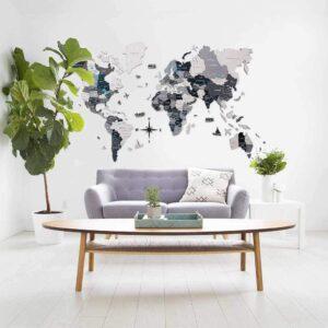 enjoythewoodestonia puidust maailma seinakaart 3D hall