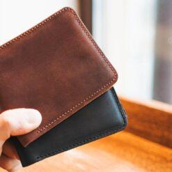 enjoythewoodestonia leather wallet with coin pocket