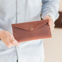 enjoythewoodestonia leather wallet for women with outside coin pocket