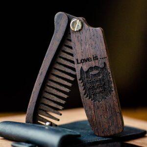 enjoyhtewoodestonia puidust kokkupandav habemekamm love is