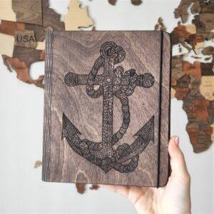 enjoythewoodestonia puidust märkmik anchor