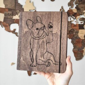 enjoythewoodestonia puidust märkmik bulldog