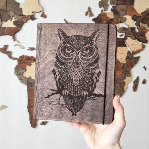 enjoythewoodestonia puidust märkmik owl