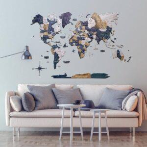 enjoythewoodestonia puidust maailma seinakaart 3d mystery