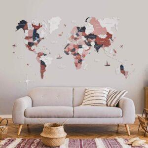 enjoythewoodestonia puidust maailma seinakaart 3d rustic