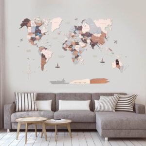 enjoythewoodestonia puidust maailma seinakaart 3d suburbs