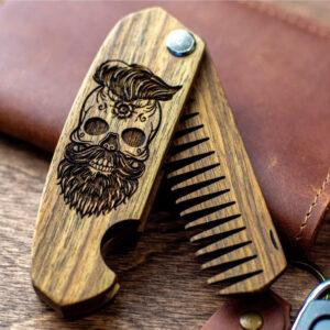 enjoythewoodestonia puidust kokkupandav habemekamm skull