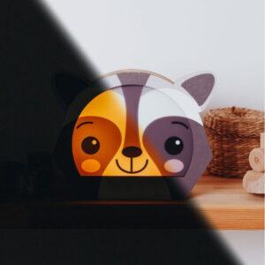 enjoythewoodestonia öölamp raccoon
